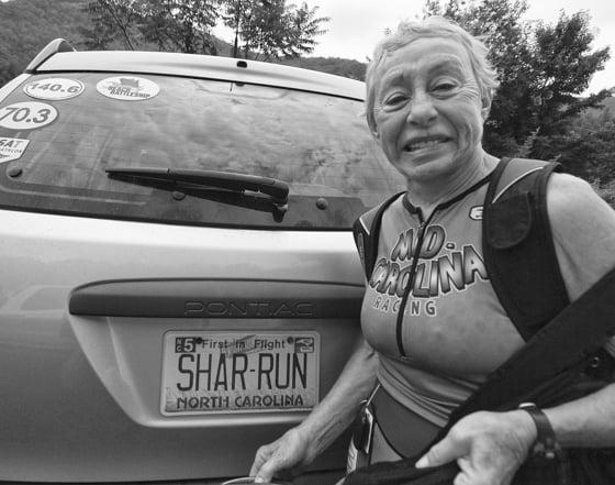 Sharon Roggenbucks non-mistaken identity as genuine triathlete.