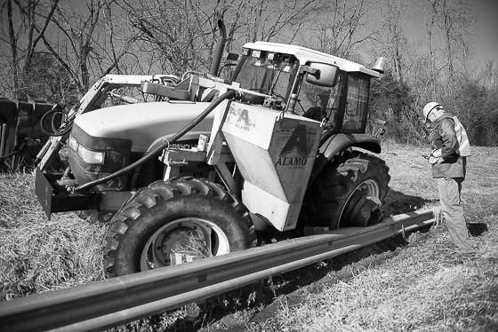 Boom Ax-Guard Rail- Interstate 40